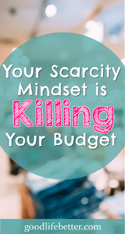 Do you struggle to stick to your budget because of a fear that if you don't buy now, you will miss out? I struggled with a scarcity mindset too. Find out how I am taking control!
