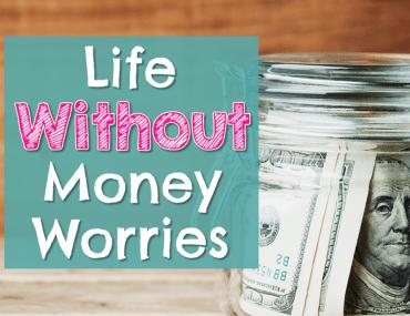 Glass jar of money