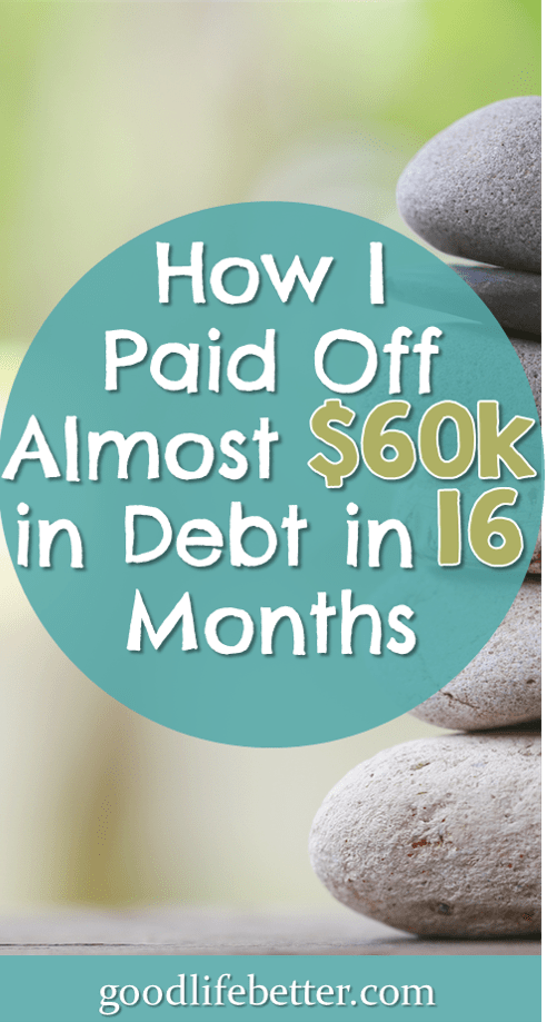 How I Paid Off Almost $60k in Debt in 16 Months and 4 Days